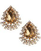 Fragments Amber Crystal Triple-Fringe Earrings - Lyst