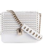 Roberto Cavalli Tiered-Flap Leather Shoulder Bag - Lyst