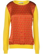 Moschino Long Sleeve Sweater - Lyst
