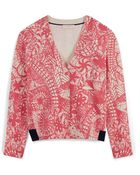Tory Burch Printed Cardigan - Lyst