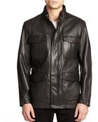 Andrew Marc Leather Jacket - Lyst