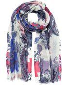 Etro Paisley Print Wool Scarf - Lyst