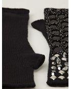 Dolce & Gabbana Embellished Fingerless Gloves - Lyst