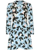 Marc By Marc Jacobs Pinwheel Flower Printed Silk Dress - Lyst