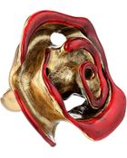 Oscar de la Renta Resin Painted Flower Ring - Lyst