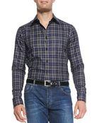 Alexander McQueen Check Button-Down Shirt - Lyst