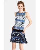 Donna Morgan Print Jersey Drop Waist Dress - Lyst