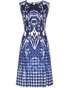 Oscar de la Renta Printed Cotton Dress - Lyst