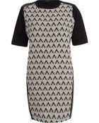 River Island Black Geometric Print Shift Dress - Lyst