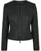 Karen Millen Metallic Jacquard Jacket - Lyst