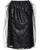 Carven Flocked Tulle Skirt - Lyst