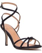 Badgley Mischka Kendal Strappy Satin Sandal - Lyst
