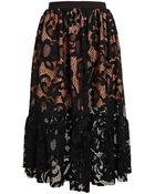 MSGM Floral Lace Skirt - Lyst