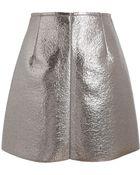 MSGM Metallic Mini Skirt - Lyst