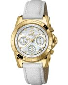 Breil Women'S Chronograph White Leather Strap Watch 38Mm 10021037 - Lyst