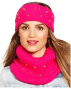 Steve Madden Ribbed And Studded Snood Scarf - Lyst