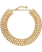 R.j. Graziano Golden Crystal-Link Necklace - Lyst
