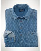 Ralph Lauren Indigo-Dyed Popover Workshirt - Lyst