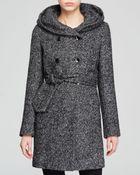 Calvin Klein Coat - Short Collar Wool - Lyst