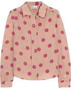 RED Valentino Polka-Dot Silk Shirt - Lyst