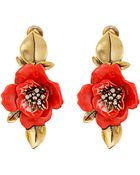 Oscar de la Renta Painted Flower C Earrings - Lyst