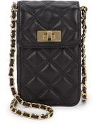 Saks Fifth Avenue Sammy Quilted Leather Phone Case - Lyst