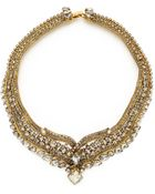 Erickson Beamon Heart Of Gold Necklace - Gold - Lyst