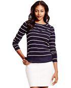 Tommy Hilfiger Stripe Boatneck Sweater - Lyst