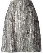 Balenciaga Printed A-Line Skirt - Lyst