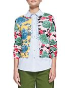 Marc By Marc Jacobs Jerrie Knit Rose Cardigan - Lyst