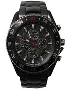 Michael Kors Jetmaster Black Ion-Plated Watch - Lyst