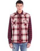 Diesel Red And Cream Plaid Cotton Shirt - Lyst
