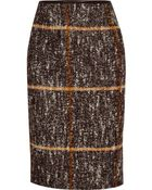 Missoni Checked Wool-Blend Pencil Skirt - Lyst