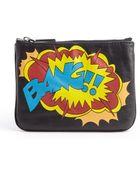 Rebecca Minkoff Black Leather Bang Graphic Zipper Cory Zipper Pouch - Lyst