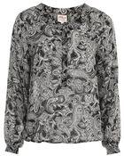 Topshop Paisley Chiffon Shirt By Ann - Lyst