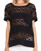 Marc By Marc Jacobs Leila Lace Top - Lyst