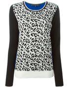 Barbara Bui Animal Print Sweater - Lyst