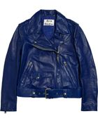 Acne Studios Mape Leather Biker Jacket - Lyst