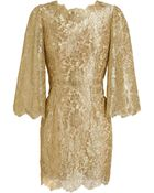 Dolce & Gabbana Metallic Lace Dress - Lyst