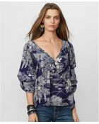 Denim & Supply Ralph Lauren Denim  Supple Ralph Lauren Longsleeve Floralprint Peasant Blouse - Lyst
