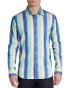 Robert Graham Classic-Fit Como Striped Cotton Sportshirt - Lyst