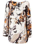 Emilio Pucci Short Studded Crepe Dress - Lyst