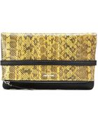 McQ by Alexander McQueen Leather And Snakeskin Clutch - Lyst