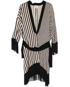 Giada Forte Striped Satin Kimono - Lyst