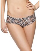 Hanky Panky After Midnight Leopard Print Crotchless Hipster Panty - Lyst