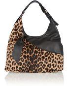 Diane von Furstenberg Leopard-Print Calf Hair Shoulder Bag - Lyst