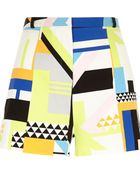 River Island White Square Geo Placement Print Shorts - Lyst