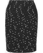 Oscar de la Renta Flecked Tweed Skirt - Lyst