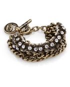 Giles & Brother Crystal Cup Chain Bracelet/Goldtone - Lyst