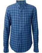 Band of Outsiders Button Down Checked Shirt - Lyst
